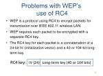 problems with wep s use of rc4