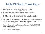 triple des with three keys
