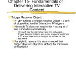 chapter 15 fundamentals of delivering interactive tv content14