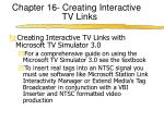 chapter 16 creating interactive tv links1