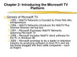chapter 2 introducing the microsoft tv platform1