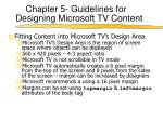 chapter 5 guidelines for designing microsoft tv content1