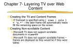 chapter 7 layering tv over web content4