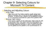 chapter 9 selecting colours for microsoft tv content2