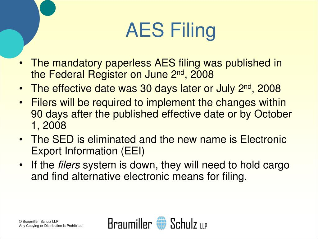 AES Filing
