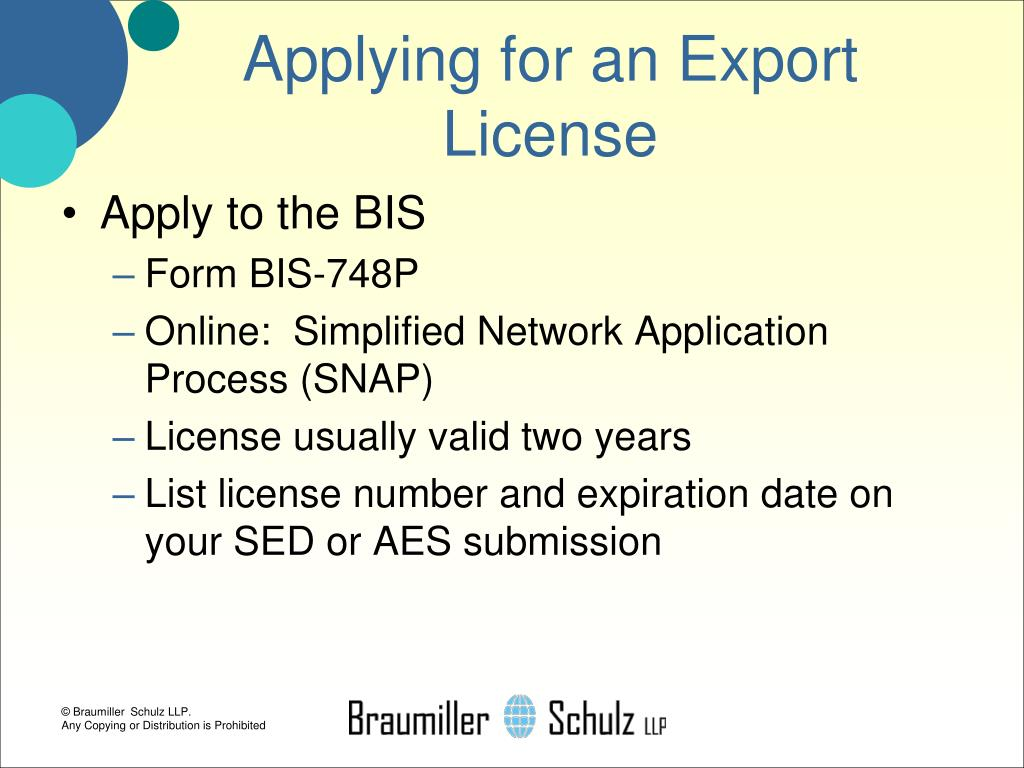 Applying for an Export License