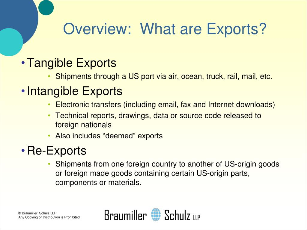 Overview:  What are Exports?