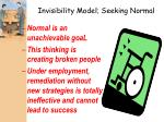 invisibility model seeking normal