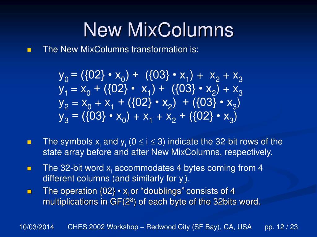 New MixColumns
