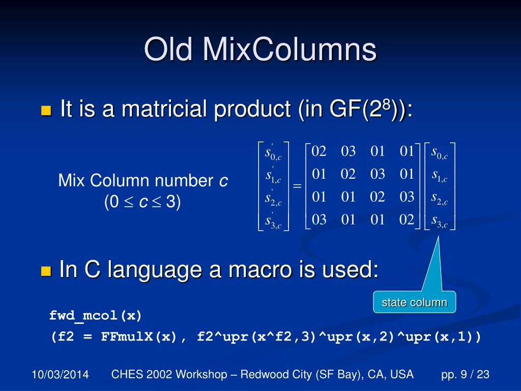 Old MixColumns