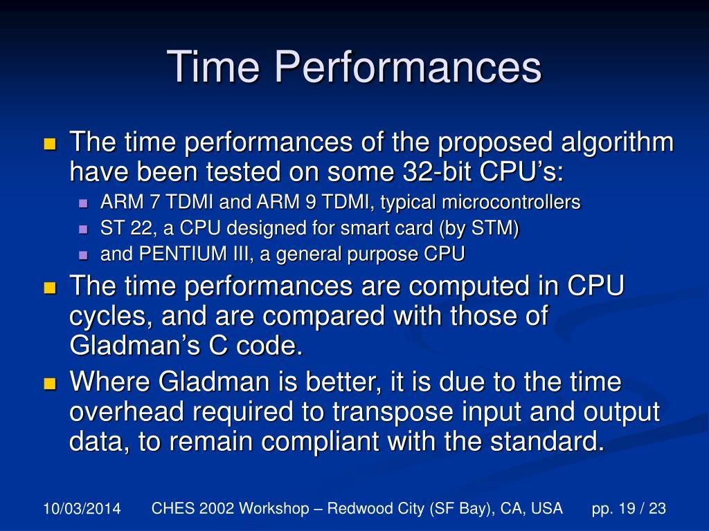 Time Performances