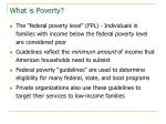 what is poverty1