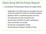 what s wrong with the poverty measure