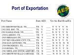 port of exportation1