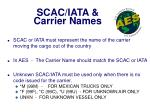 scac iata carrier names