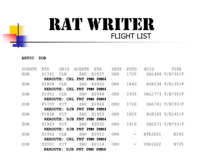RAT WRITER
