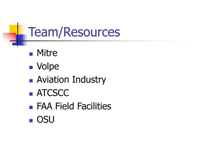 Team/Resources