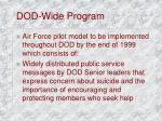 dod wide program