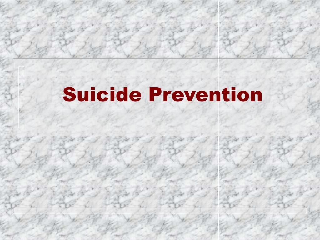 suicide prevention l.