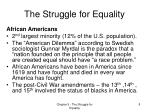 the struggle for equality6