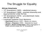 the struggle for equality7
