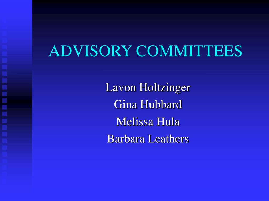 advisory committees l.