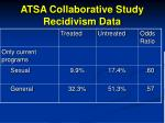 atsa collaborative study recidivism data101