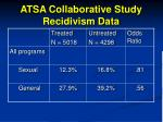 atsa collaborative study recidivism data97