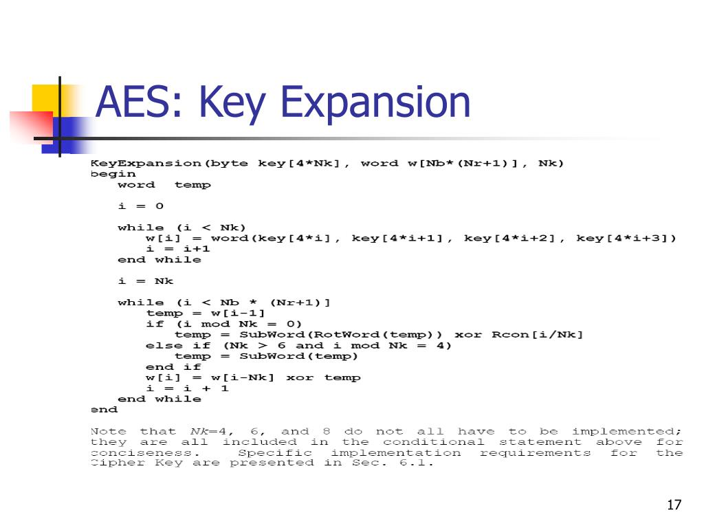 AES: Key Expansion