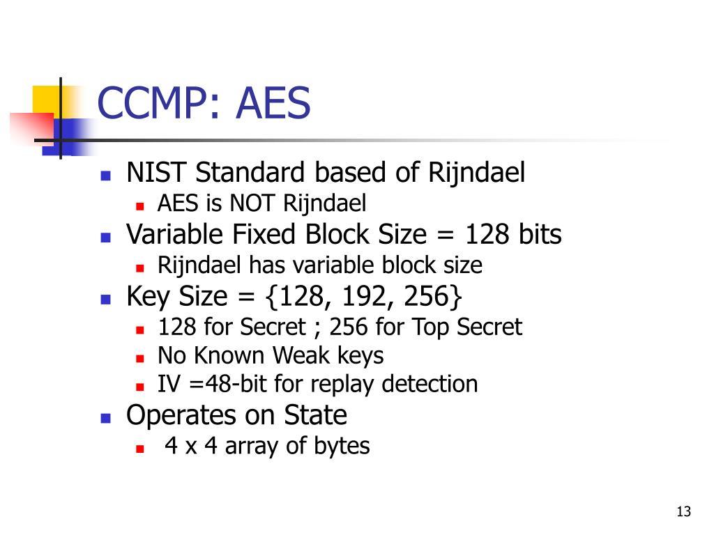 CCMP: AES