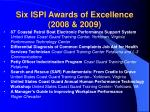 six ispi awards of excellence 2008 2009