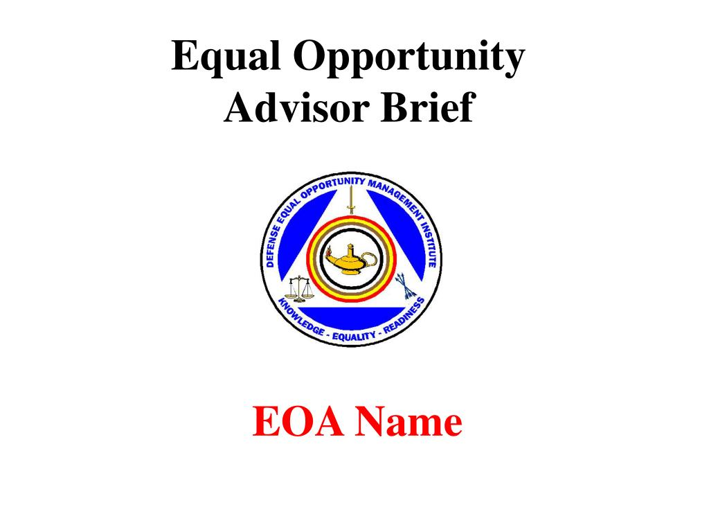 equal opportunity advisor brief l.