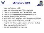 usn uscg tasks