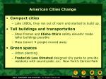 american cities change
