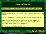 class differences