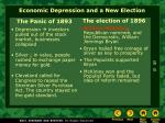 economic depression and a new election