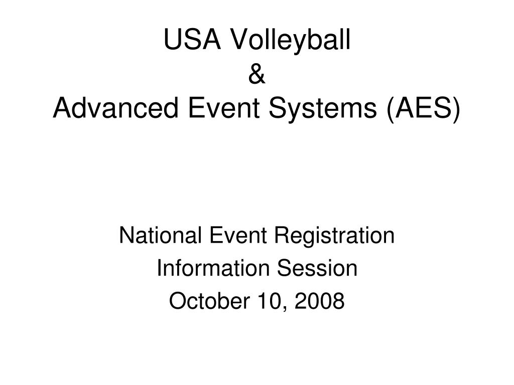 usa volleyball advanced event systems aes l.