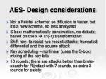 aes design considerations