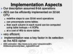 implementation aspects26