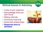 ethical issues in advising