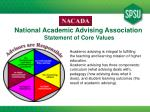 national academic advising association statement of core values