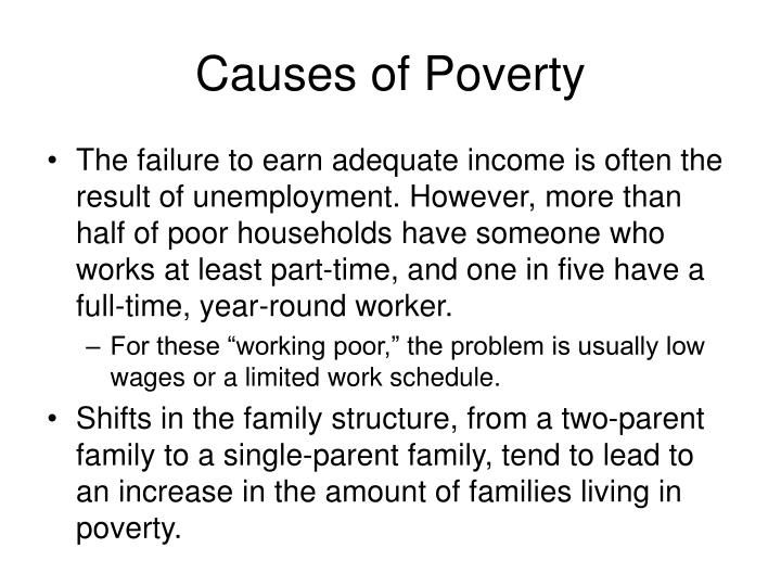 Causes of Poverty