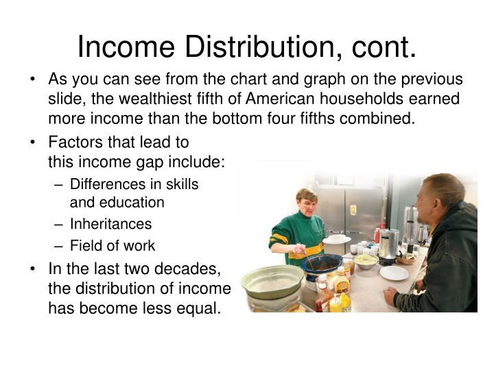 Income Distribution, cont.