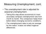 measuring unemployment cont