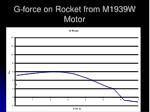 g force on rocket from m1939w motor