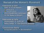 revival of the women s movement