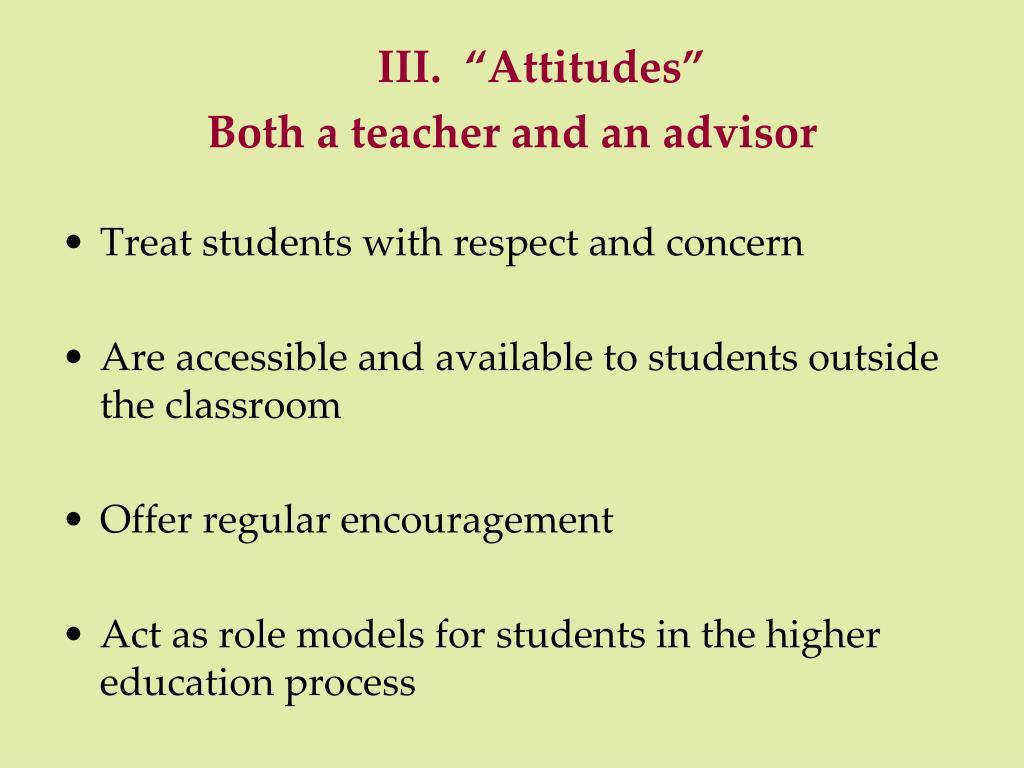 "III.  ""Attitudes"""