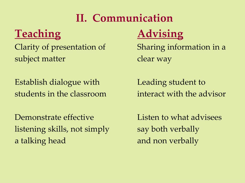 II.  Communication
