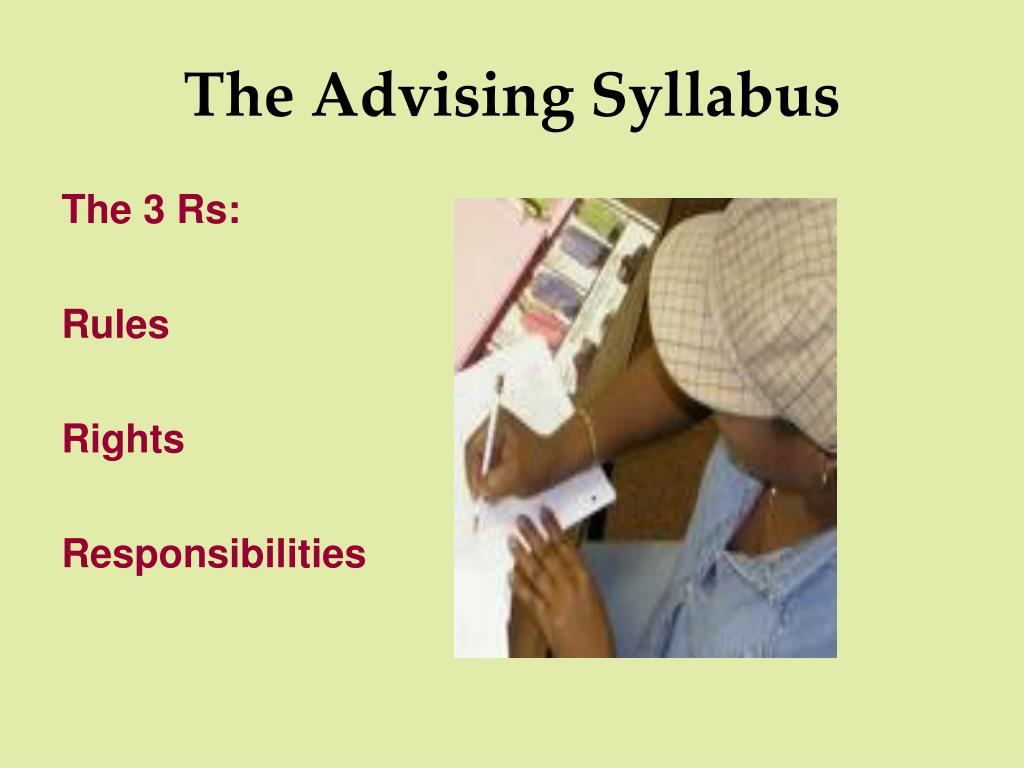 The Advising Syllabus