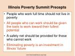 illinois poverty summit precepts